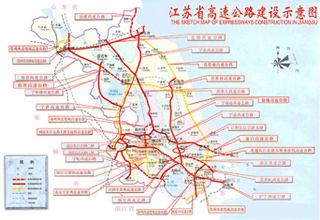The Sketch Map of Expressways Construction In Jiangsu